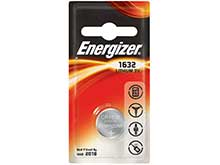 Energizer CR1632 130mAh 3V Lithium Primary (LiMNO2) Coin Cell Battery - 1 Piece Blister Pack (ECR1632BP)
