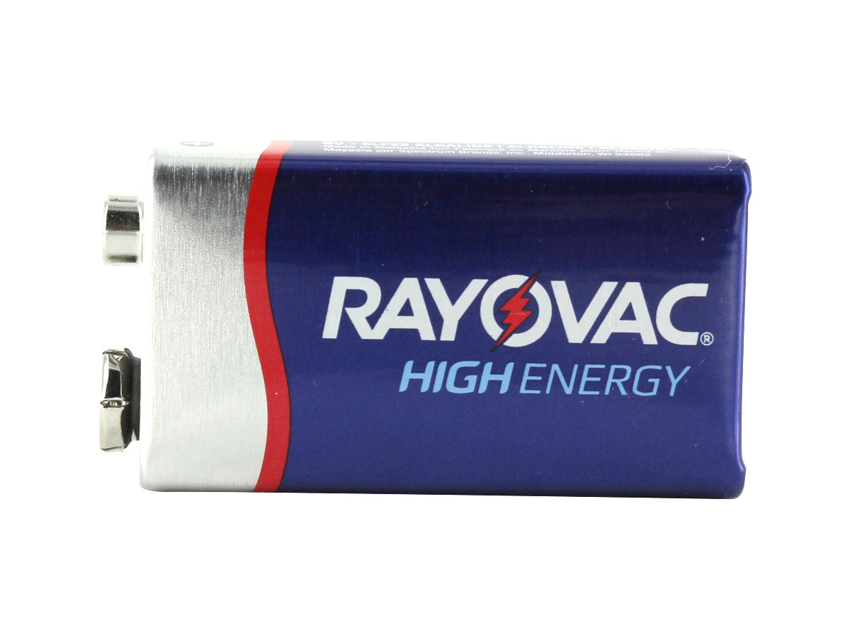 Side Shot of the Rayovac High Energy 9V Battery