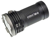 Acebeam X80 UV LED Flashlight - 4 x CREE XHP50.2 - 10000 Lumens - 16 x Nichia 276A - 365nm - Includes 4 x 18650
