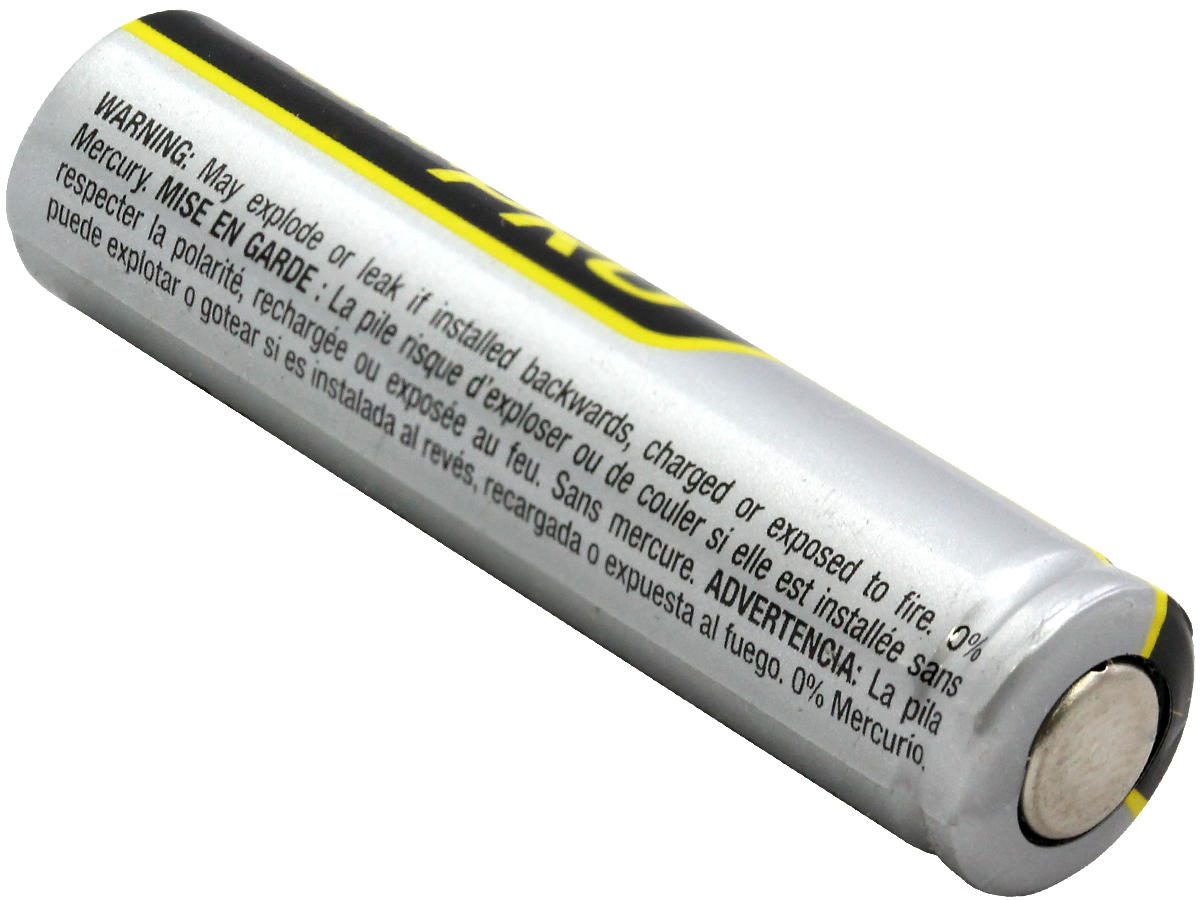 Bottom Terminal of the Rayovac AAA Ultra Pro Battery