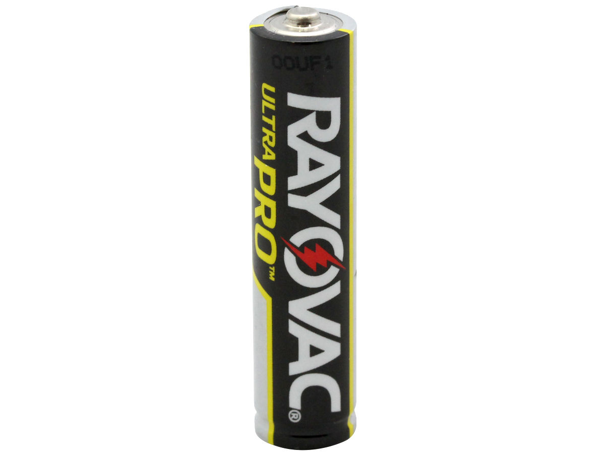 Standing Shot of the Rayovac AAA Ultra Pro Battery