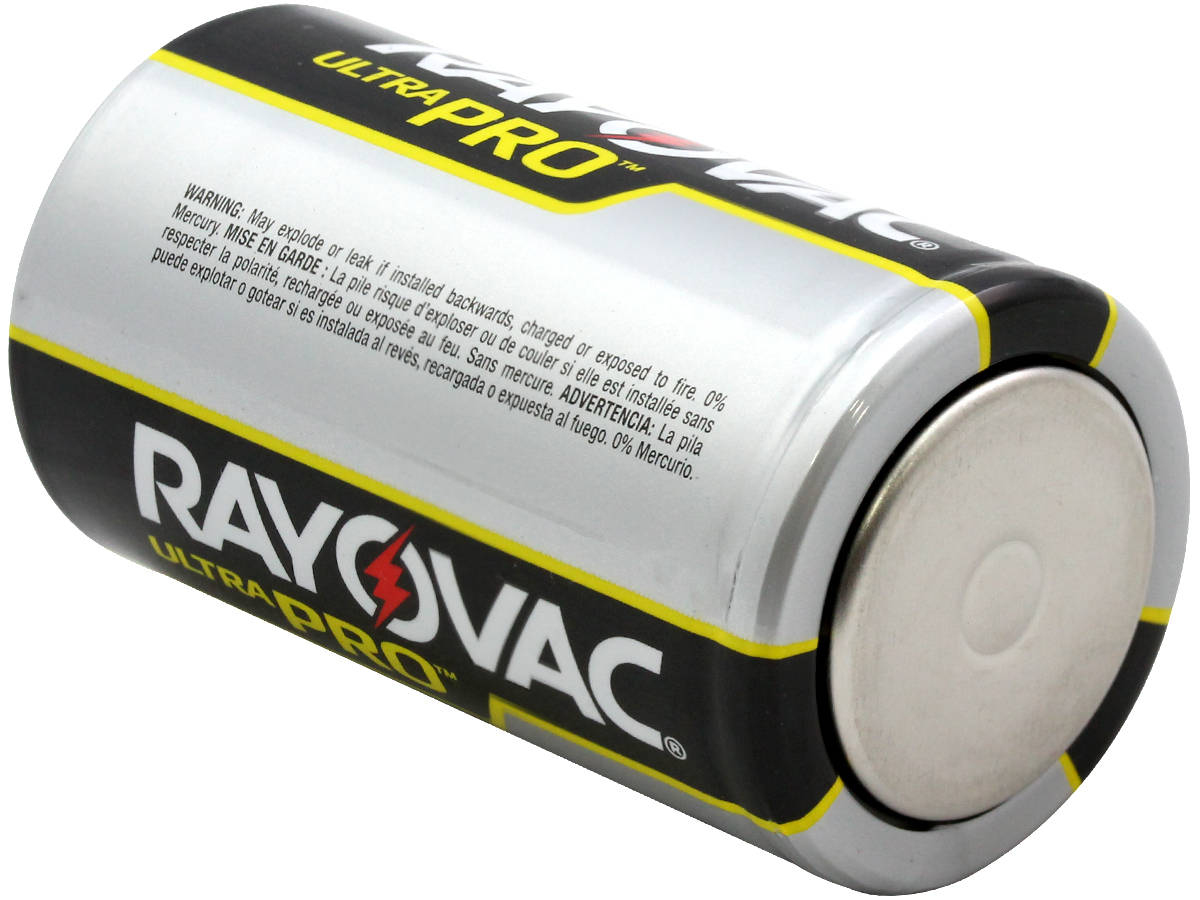 Bottom Terminal of the Rayovac D Ultra Pro Battery