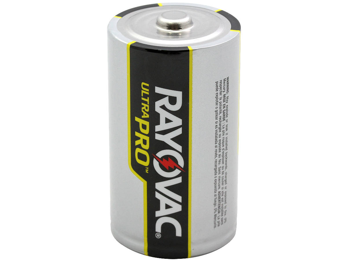 Standing Shot of the Rayovac D Ultra Pro Battery