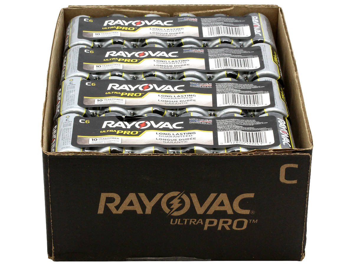Bulk Case for the 6-Pack Shrink Wraps of Rayovac C Ultra Pro Batteries