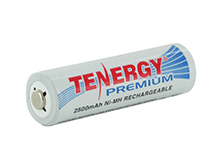Tenergy Premium 10320 AA 2500mAh 1.2V Nickel Metal Hydride (NiMH) Button Top Battery - Bulk