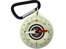 Ultimate Survival Technologies Pathfinder Glo Compass with Carabiner Clip (20-02741)