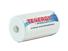 Tenergy Premium 10105 D-cell 10000mAh 1.2V Nickel Metal Hydride (NiMH) Button Top Battery - Bulk