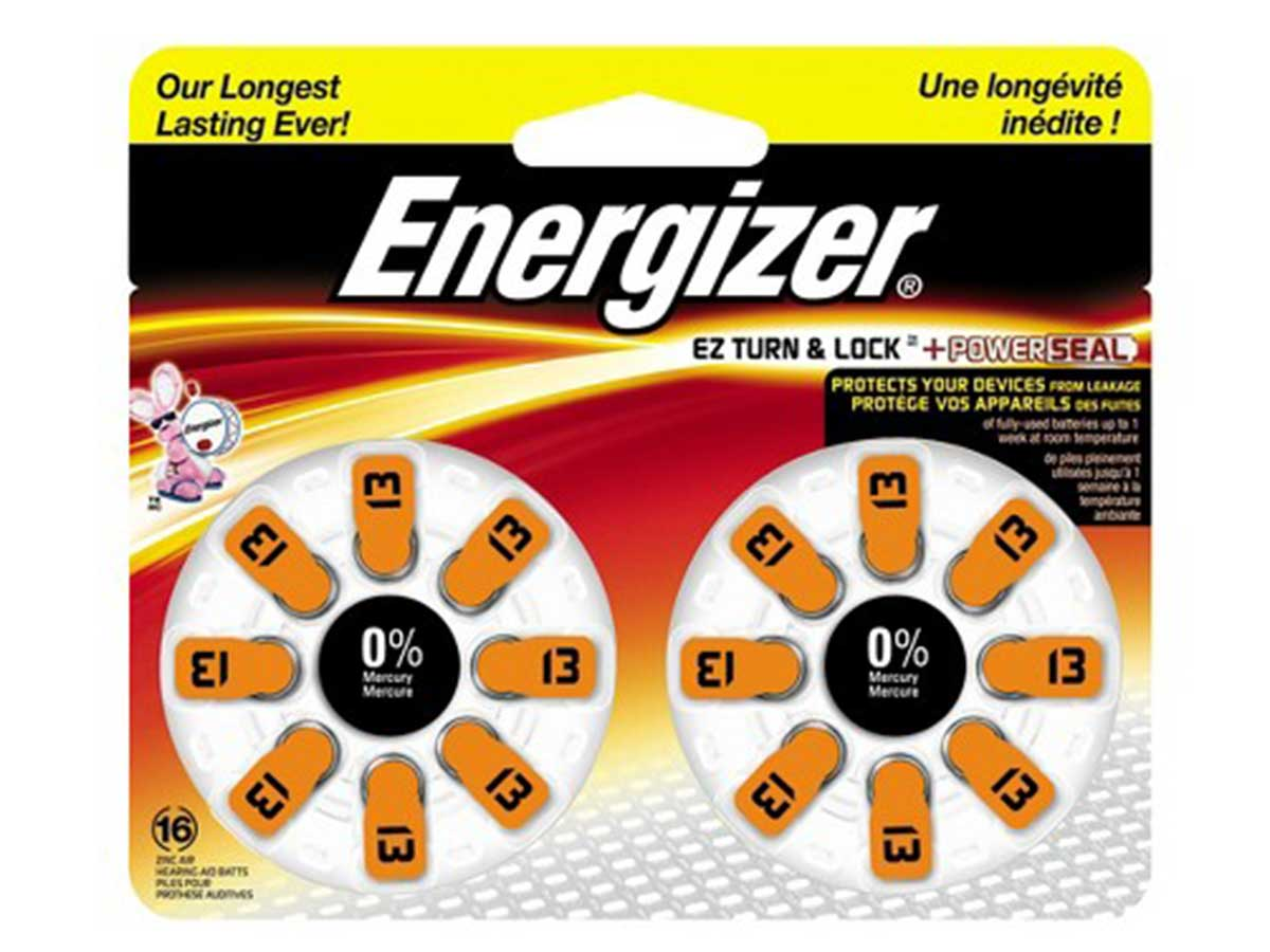 Energizer Size 13 Hearing Aid Batteries - 16 Count Blister Pack