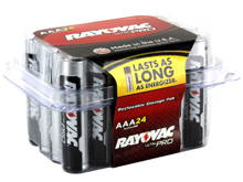 Rayovac Ultra Pro AL-AAA-24 1.5V Alkaline Button Batteries - 24 Pack (ALAAA-24PPJ)
