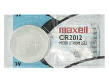 Maxell CR2012 50mAh 3V Lithium (LiMNO2) Coin Cell Battery - 1 Piece Tear Strip, Sold Individually