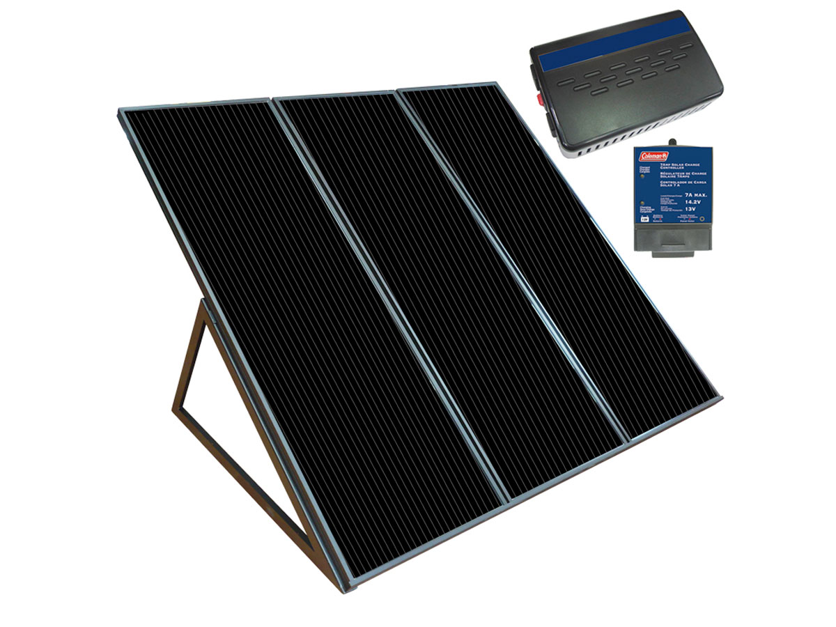 Colemane Watt Solar Charging Kit front view