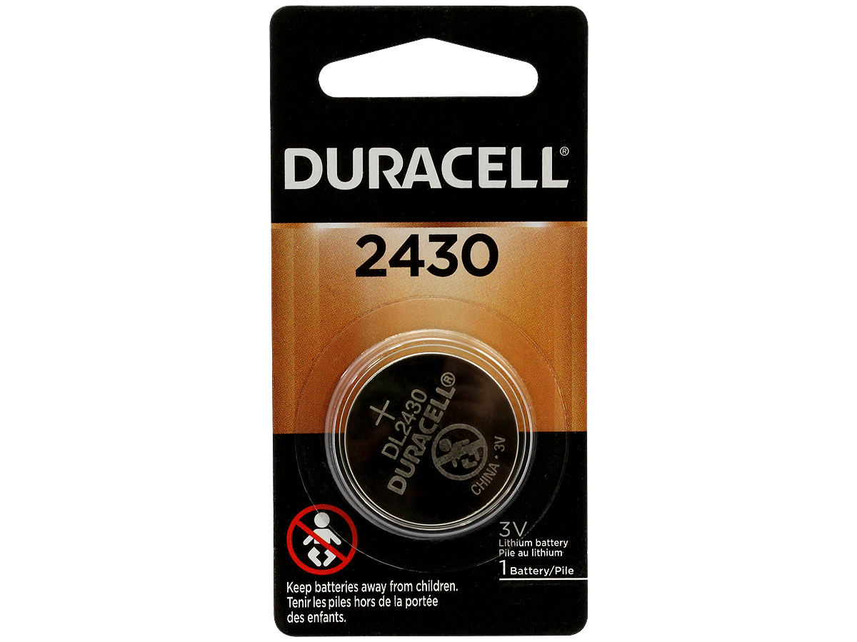 1-Piece Retail Card of the Duracell DL CR2430