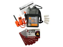 Ultimate Survival Technologies Learn and Live Fire Starting Kit Combo - Pairs Pocket Guide with Fire Starter and Tinder (20-02760)