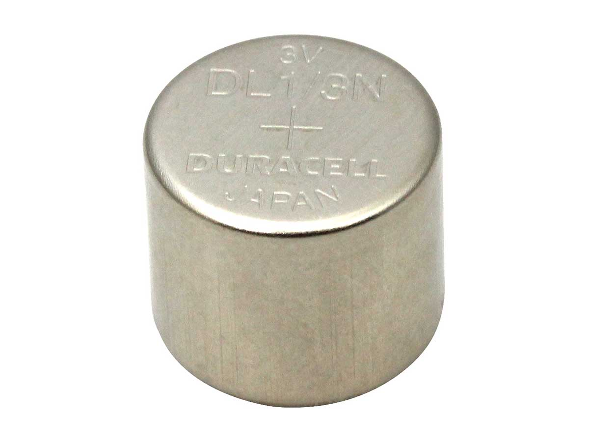 Duracell CR1/3N coin cell upright
