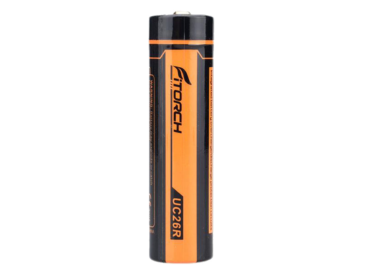 Fitorch UC26R 18650 battery upright