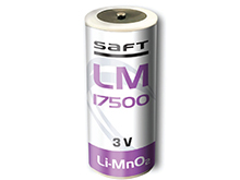 Saft LM-17500 A Size 3000mAh 3V Lithium Manganese Dioxide (Li-Mn0.2) Button Top Primary Battery - Bulk