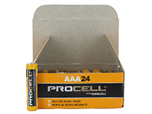 Duracell Procell PC2400 (24PK) AAA 1.5V Alkaline Button Top Batteries - Contractor Pack of 24
