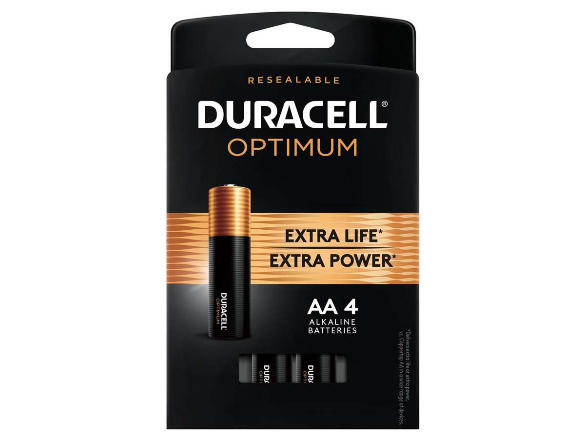Duracell Optimum AA Battery 4 (Four) Pack Retail Card