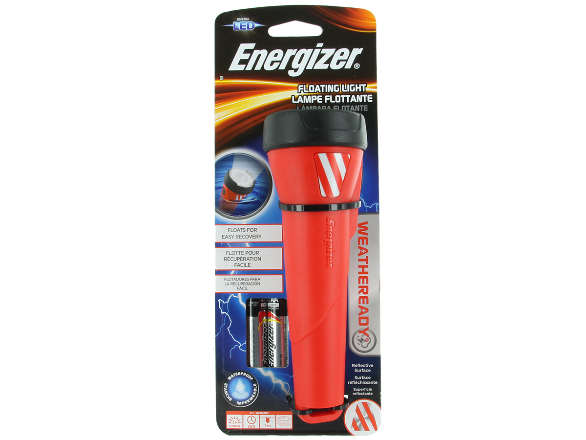 Packaging for Energizer Weatheready Floating LED light