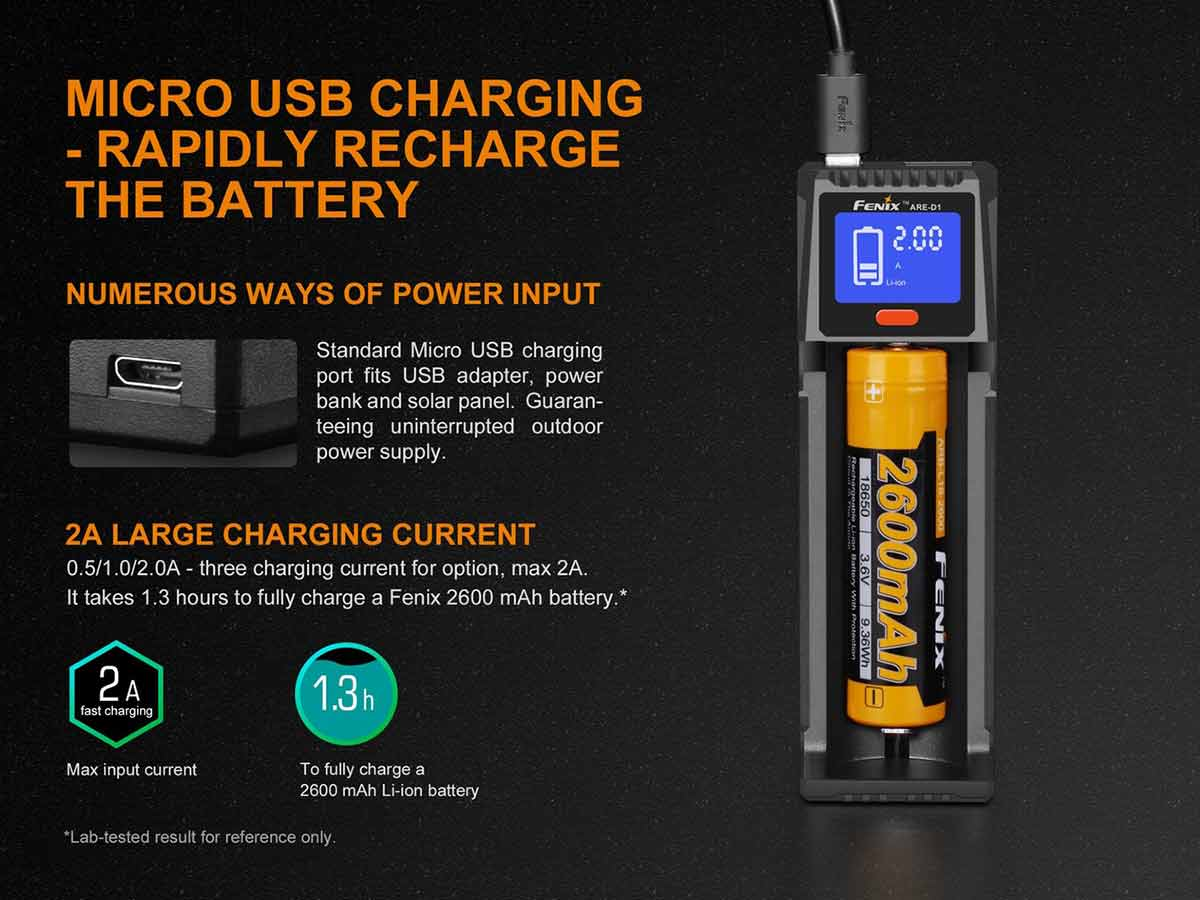 manufacturer slide about micro usb charging