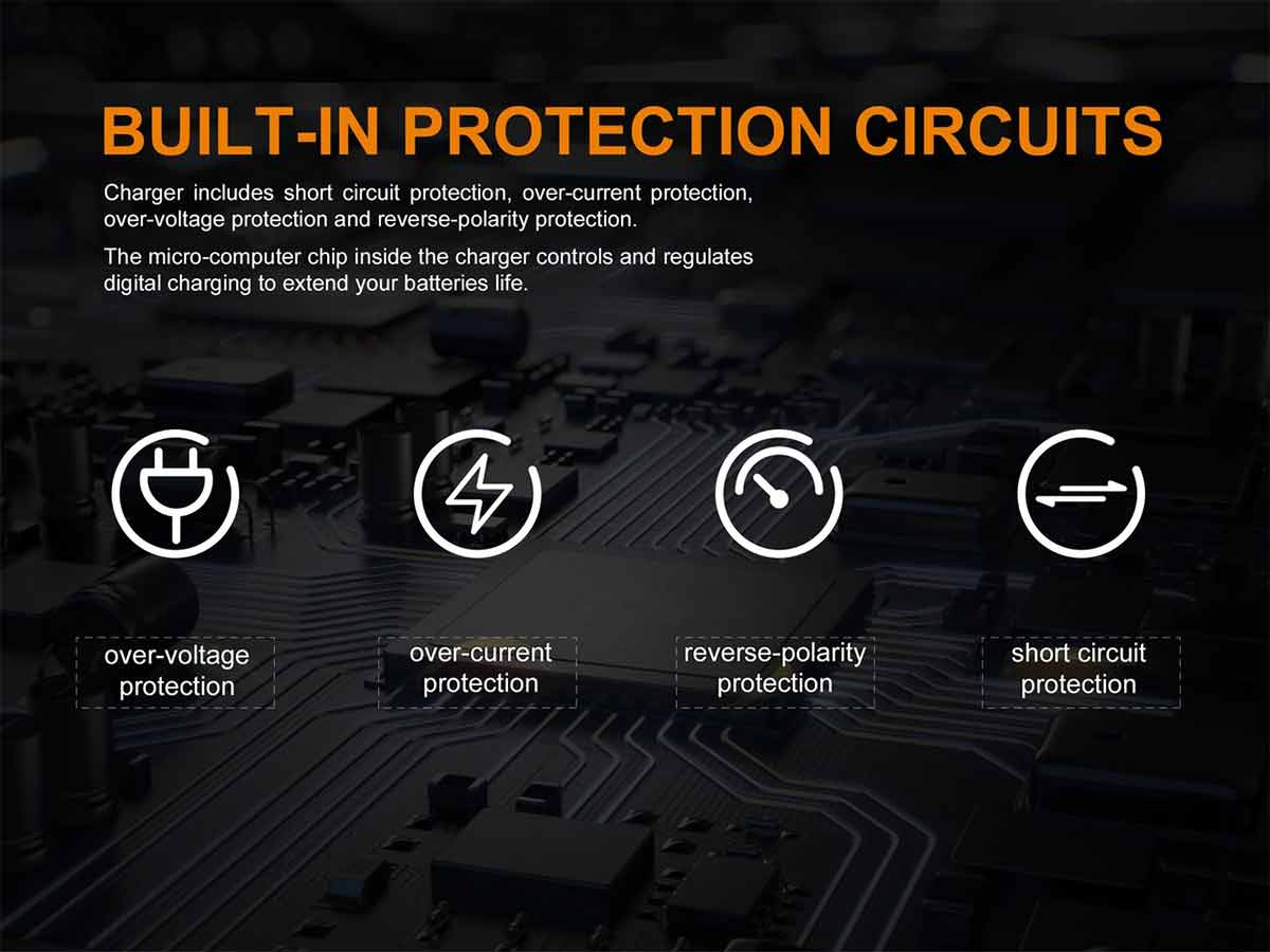 manufacturer slide about built in protection features