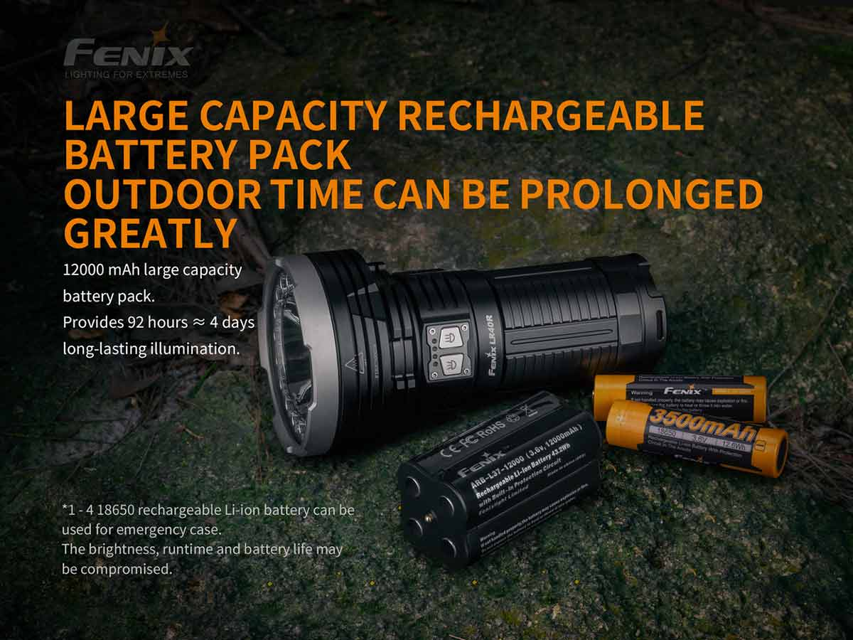 manufacturer slide about large capacity battery pack