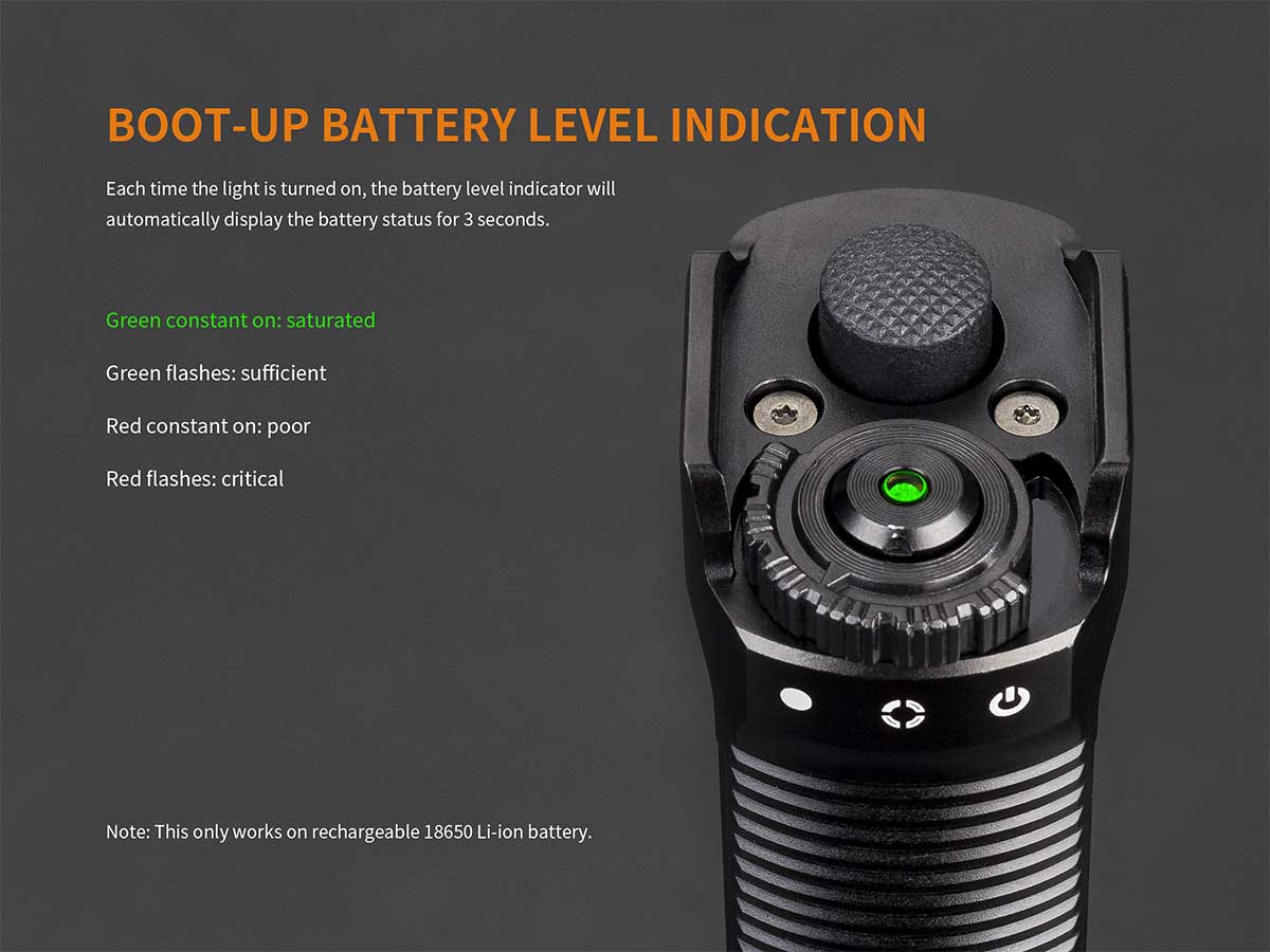 Battery level indicator information
