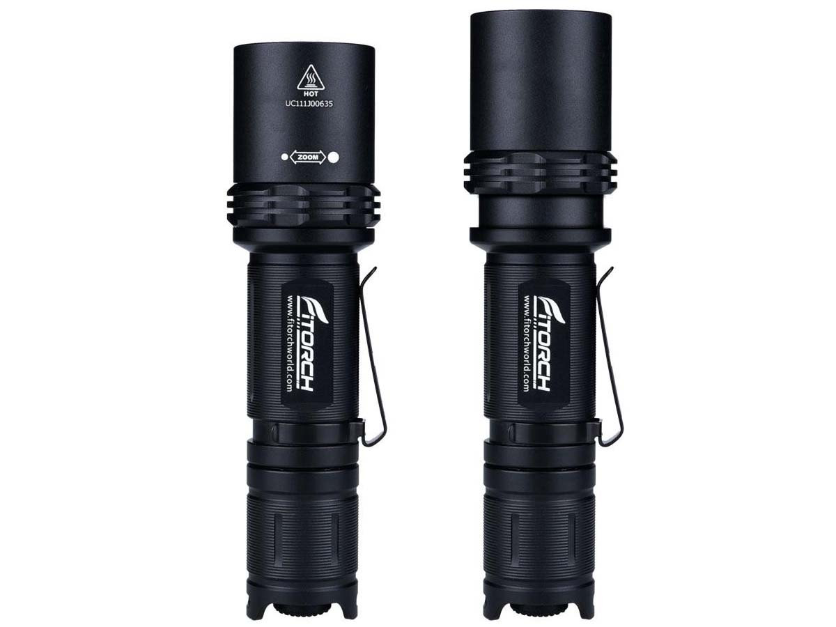 FiTorch P30Z Adjustable Beam Flashlight Adjustable Function Length