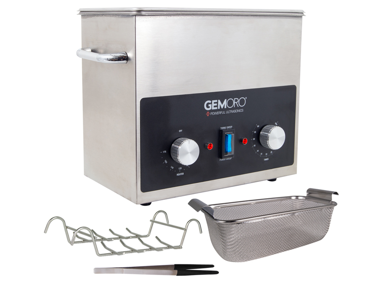 Gemoro 3 quart Next Generation Ultrasonic cleaner with accessories