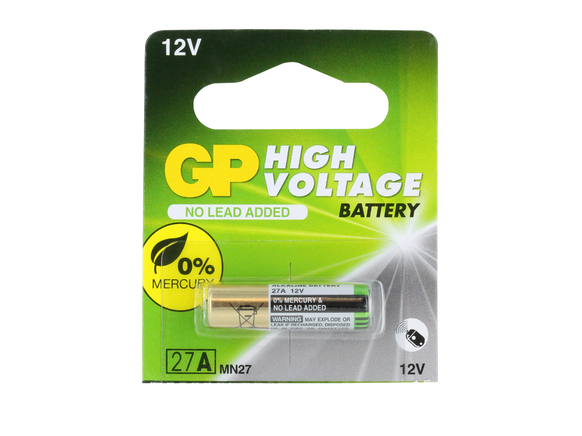 Gold Peak A87 battery in 1 piece tear strip