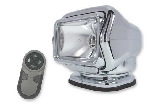 Golight Stryker Spotlight in chrome with remote