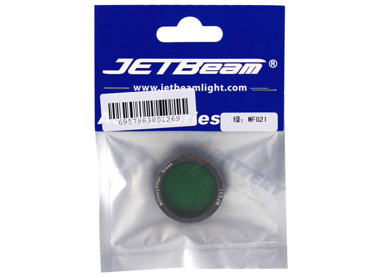Packaging for JETBeam Color Filter in red