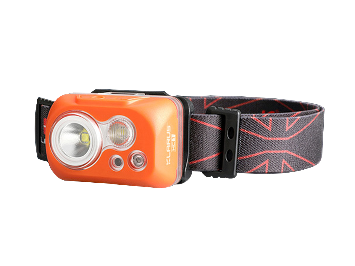 Klarus HC1-S Dual Headlamp with lamp on elastic band