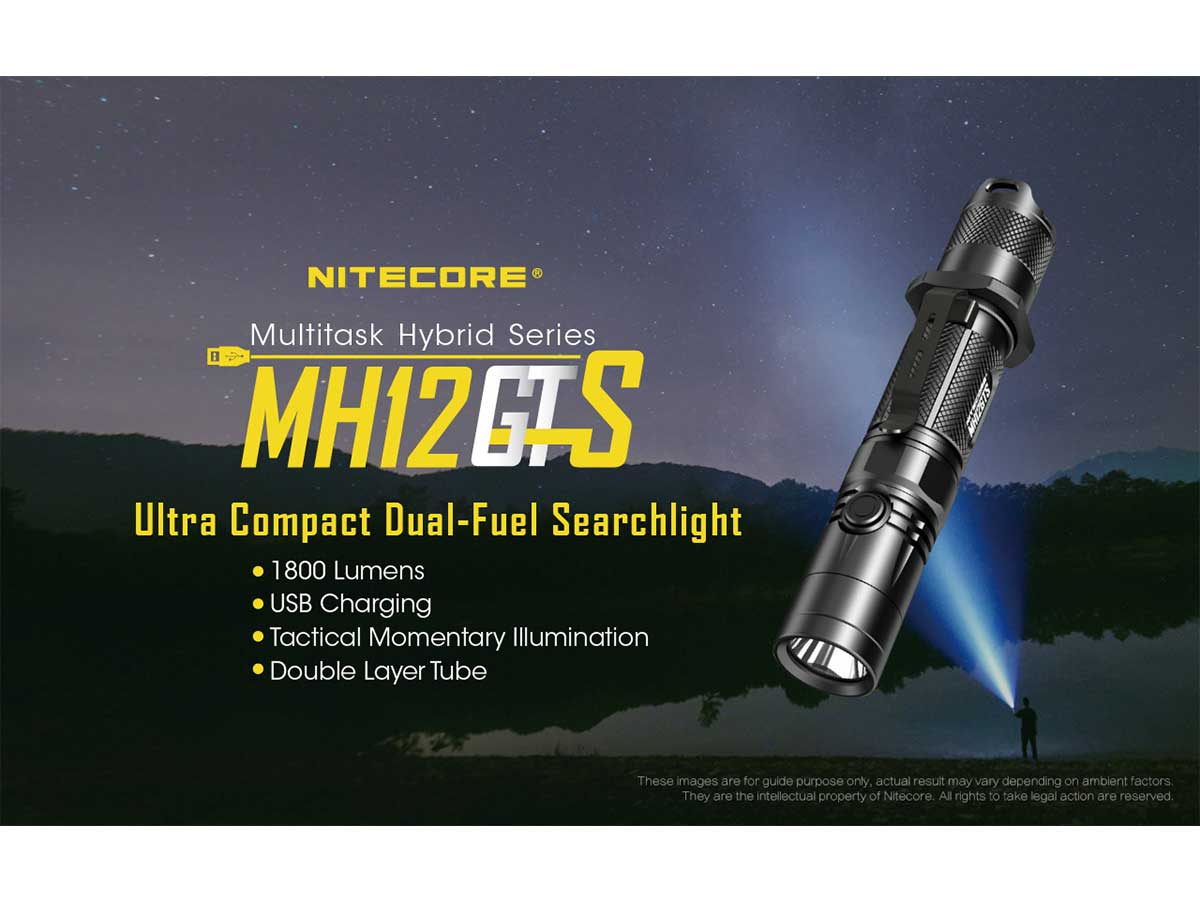 Nitecore MH12GTS one hand operable