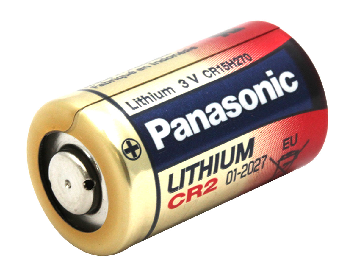 Angled shot of Panasonic CR2L-BUN battery