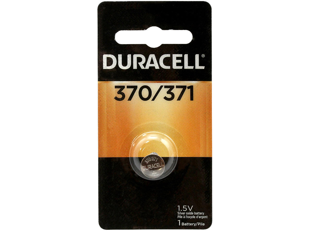 Duracell D370/371 button cell in retail card