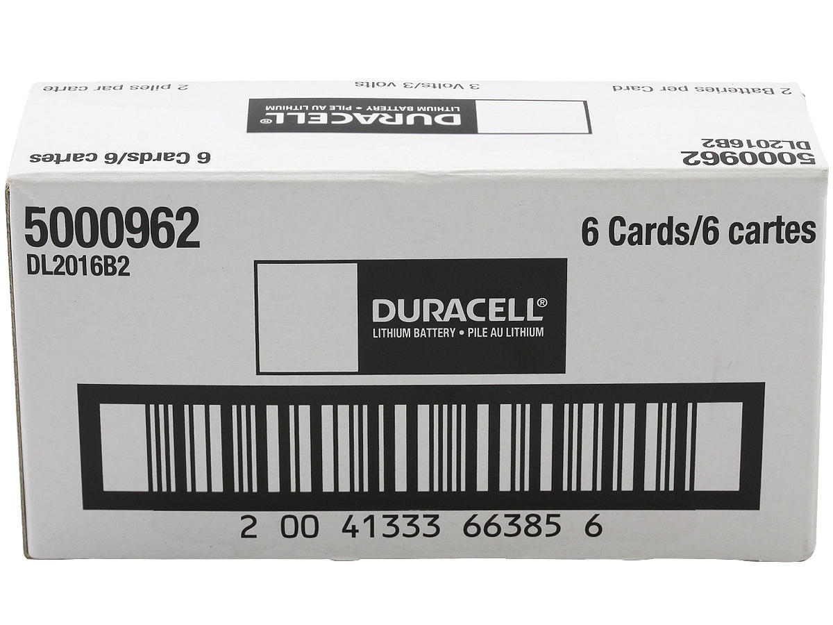 Case for Duracell CR2016 coin cells