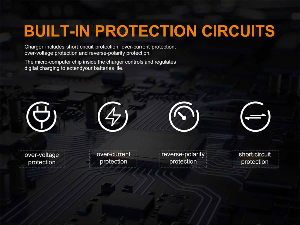 manufacturer slide about built in protections