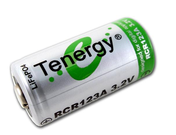Tenergy 2 Rcr123a 3v Batteries Kit With Ac Dc Smart Charger