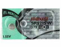 Maxell SR521SW 379 15mAh 1.55V Silver Oxide Button Cell Battery - Hologram Packaging - 1 Piece Tear Strip, Sold Individually