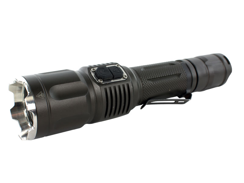 TerraLux TDR-2 flashlight left side angle