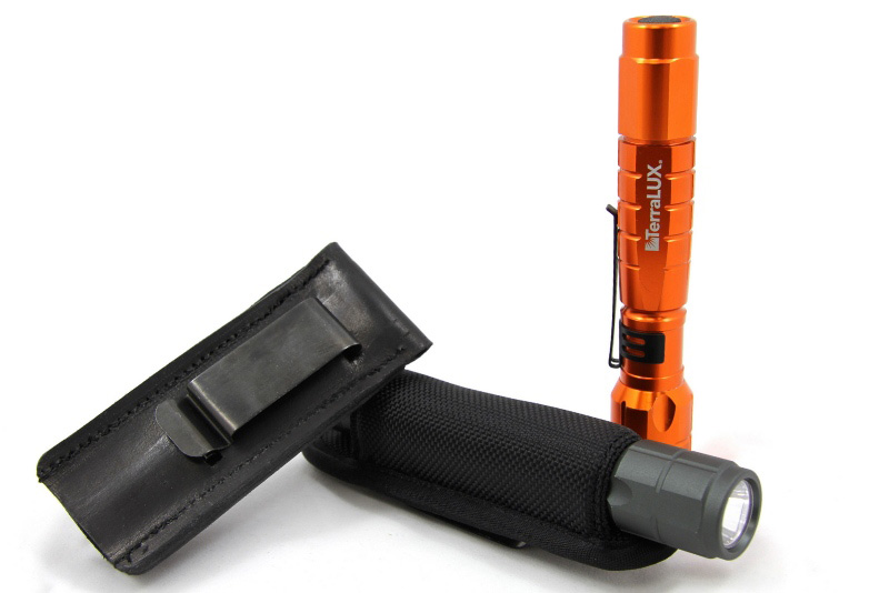Flashlight Holster Shown with Light (Not Included with Purchase)