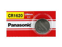 Panasonic CR1620 75mAh 3V Lithium (LiMnO2) Coin Cell Battery - 1 Piece Tear Strip, Sold Individually