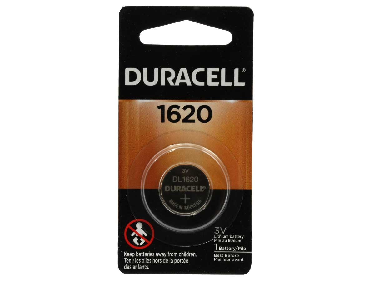 Retail Card Packaging for Duracell 1620