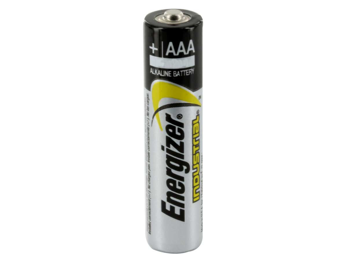 Single Energizer Industrial AAA battery upright