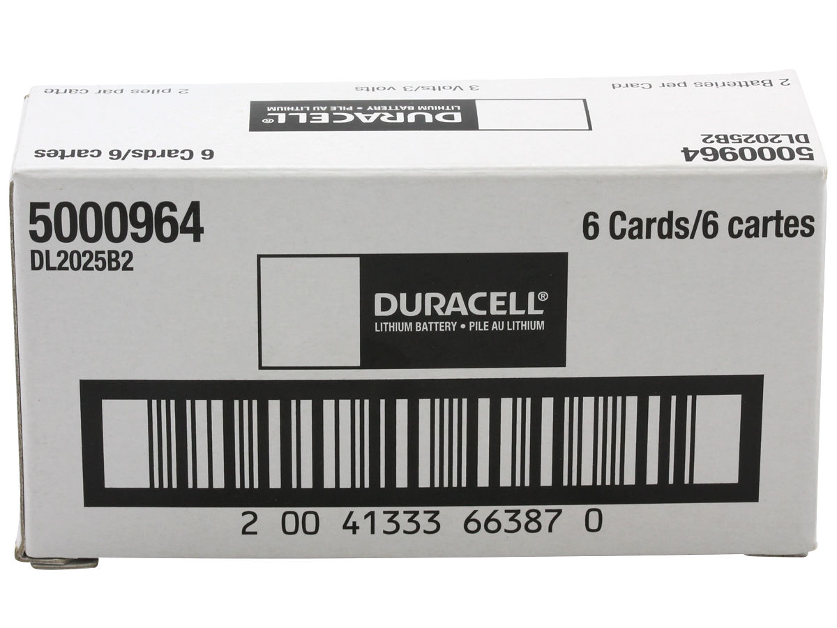 Case for Duracell CR2025 coin cells