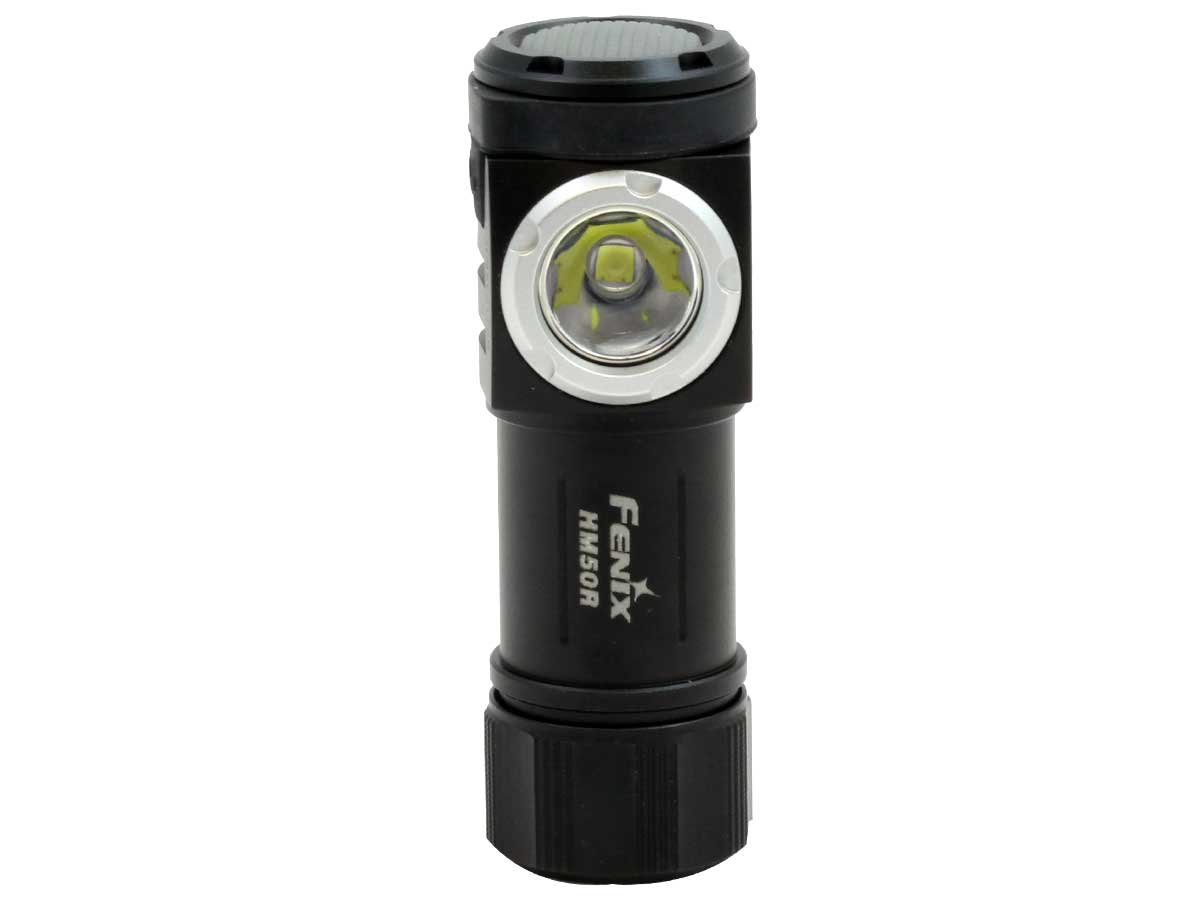 Standing black LED flashlight