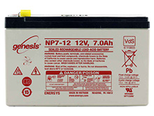 Enersys NP7-12 7Ah 12V Rechargeable Sealed Lead Acid (SLA) Battery - F1 or F2 Terminal