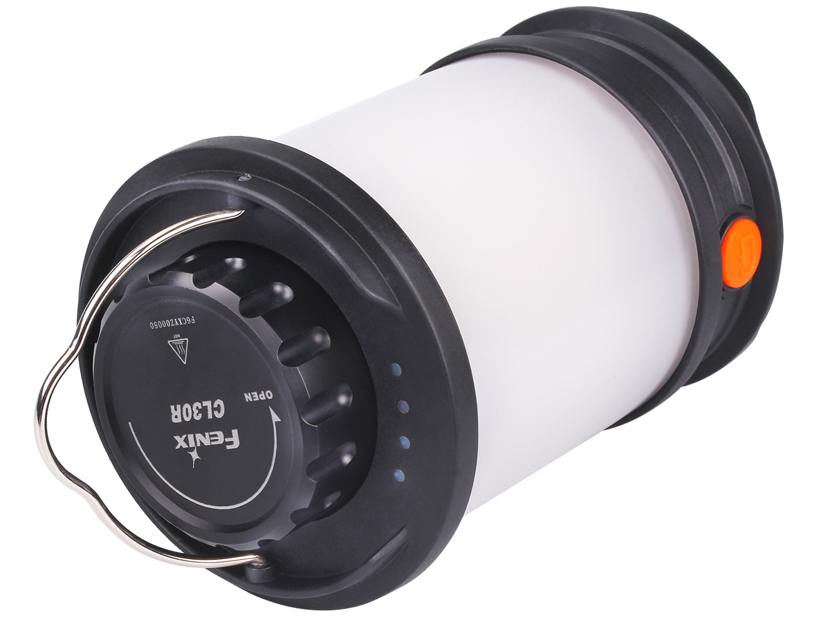 Top view of Fenix CL30R lantern