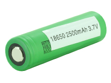 Sony VTC5A 18650 2500mAh 3.7V Unprotected High-Drain 35A Lithium Manganese (LiMn2O4) Flat Top Battery - Boxed